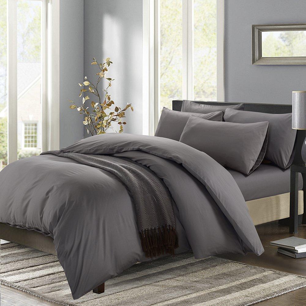 Downia khách sạn 5 sao hoàn thành 60 khẩu 300tc đoạn màu đặc bốn mảnh (1.8m giường) kim loại màu xám