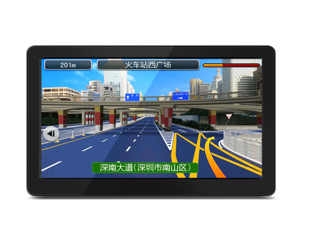 thiết bị định vị cầm tay bên ngoài Video Xem hàng] Văn Trì Âu Portable 7 inch xe ô tô xe gắn GPS OnS