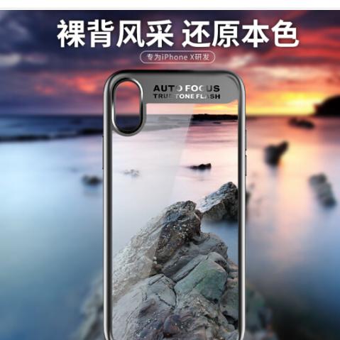 Rock Rock X là điện thoại di động bảo vệ hệ vỏ táo iPhone10 transparent silica gel chống vỡ vỏ mềm đ