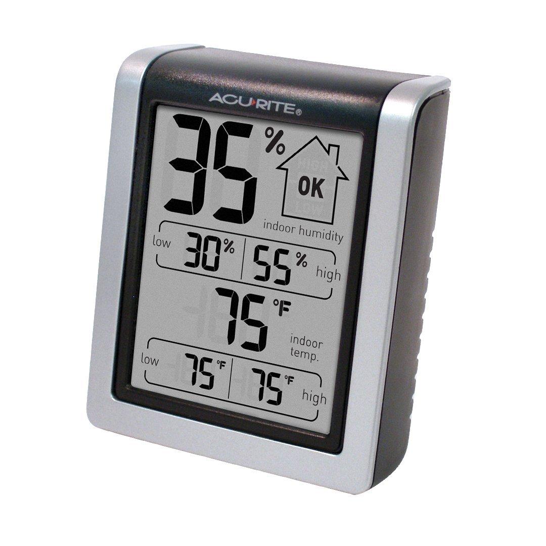 AcuRite số nhiệt độ độ ẩm và màn hình.