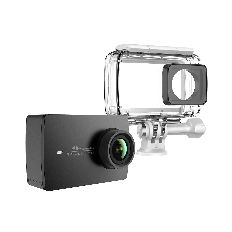 YI 4 K BK + WP hoạt động thể dục thể thao và 4 K / 30fps camera WIFI đen