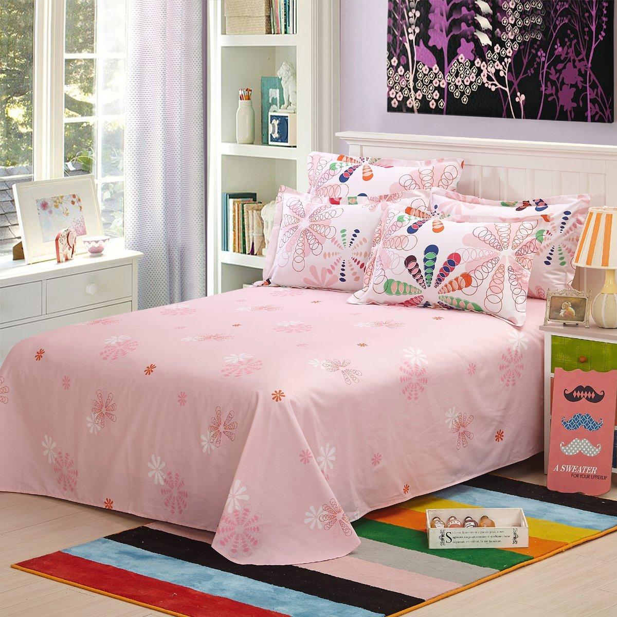 YOTA thỏ twill tem bốn mảnh AB Edition thiết kế giường áp dụng 1.5/1.8 mét (200*230cm) bảy màu hoa.