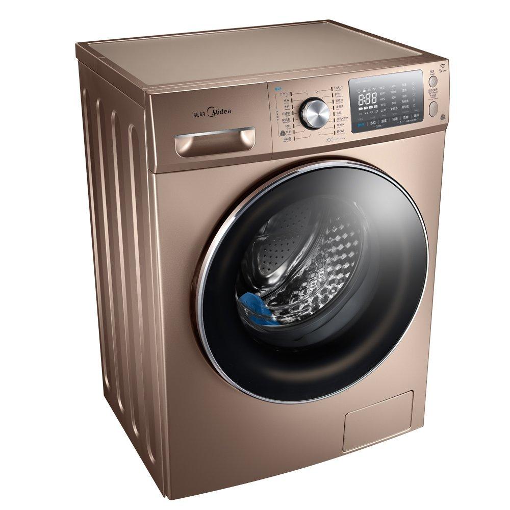 Midea Vẻ đẹp của Midea MG100-1405WDQCG 10 kg, con lăn máy giặt điều khiển thay đổi tần số vàng quay
