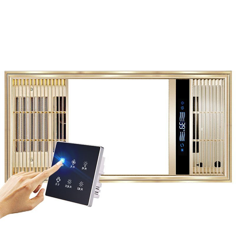 NVC trí tích hợp điều khiển gió ấm thông gió chiếu sáng LED vàng có nhiều khả năng gió ấm.