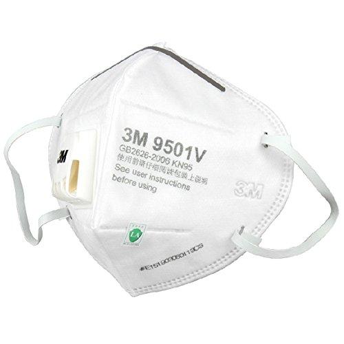 3M mặt nạ 9501V KN95 cấp bảo vệ hiệu quả lọc 95% tai đeo mặt nạ kiểu thở van 25 chỉ / hộp