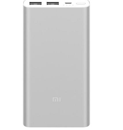 MI So - mi (mi) 10.000 ma mới di chuyển điện 2 / sạc nhanh sạc di động hai chiều báu nhỏ màu bạc (ấn