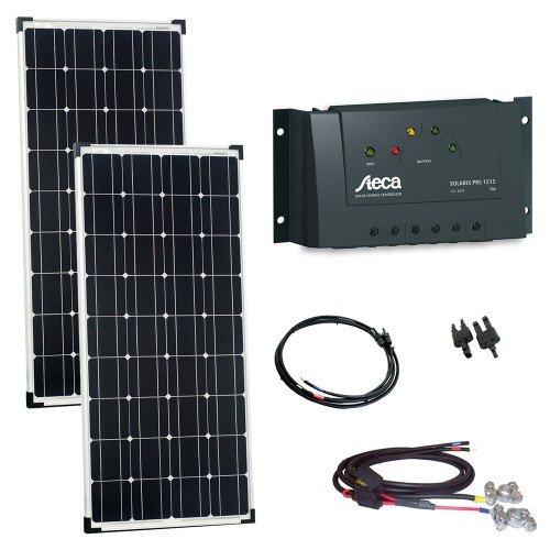 Offgridtec 200 W / bảng điều khiển hệ mặt trời steca Charge cáp và cắm 12 volt – 2 x 100 W. 002590