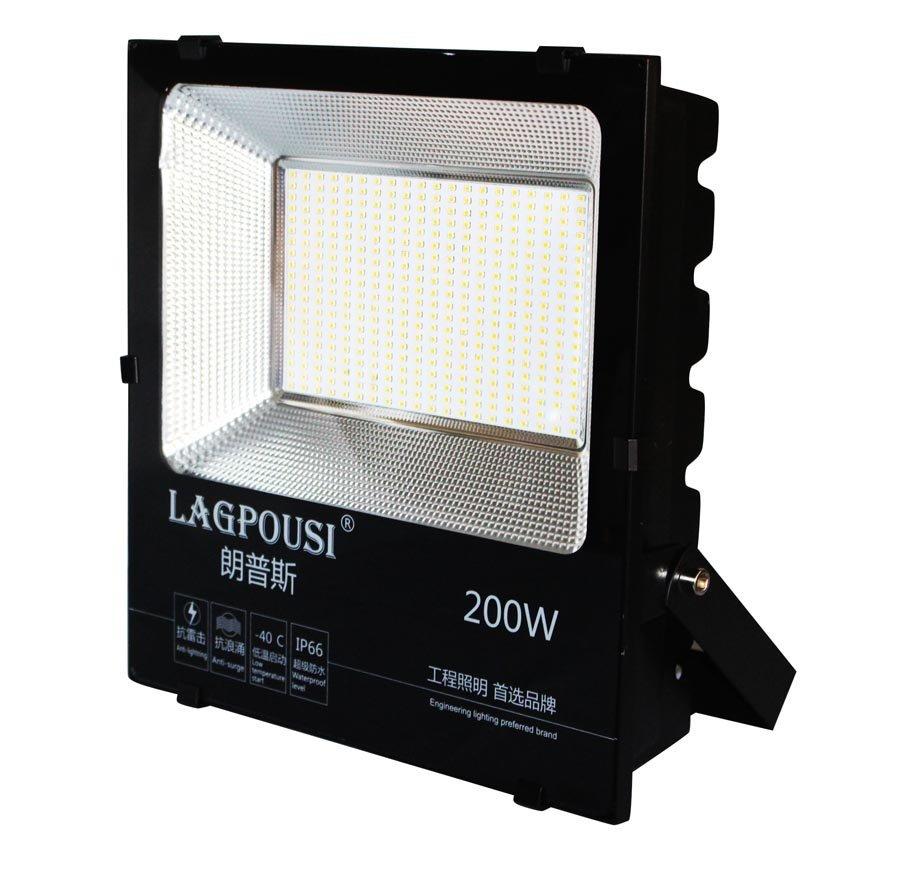 Lagpousi 200W ném đá ánh sáng đèn Philips smd2835led ac85 - 265v đèn quảng cáo bên ngoài sân cỏ khôn
