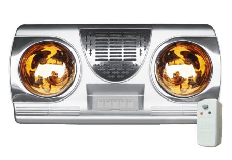 Máy bay treo tường loại gió ấm hai đèn PTC gió ấm đèn treo tường phòng tắm trong nhà tắm, cái lò sưở