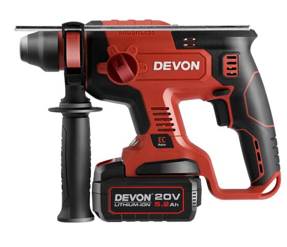 Devon Lớn có (Devon) 20V chuyên nghiệp không chải DRH nâng cấp dung lượng pin 5.2Ah lớn có nhiều khả