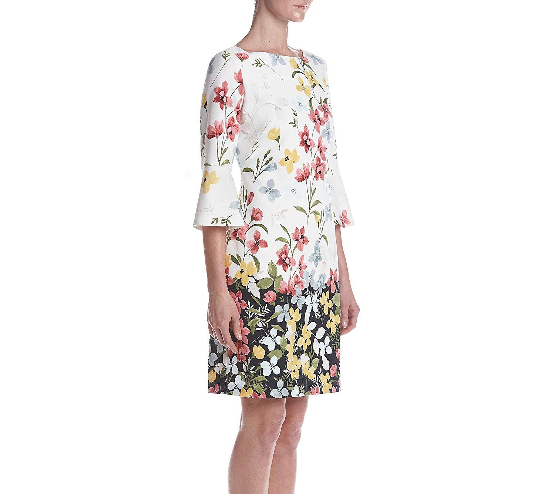 Đầm  JESSICA HOWARD thẳng hoặc là một chiếc váy hoa ống tay áo