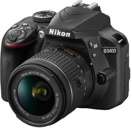 máy ảnh Nikon (Nikon) D3400 vào cửa camera (AF-P DX 18-55mm f/3.5-5.6G VR chống rung máy)