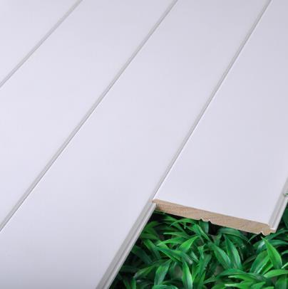 BAIQIANG trắng châu Âu ván chân tường trong phòng tắm hơi 100*12 tấm bảng gỗ thật đấy gác mái gỗ phò