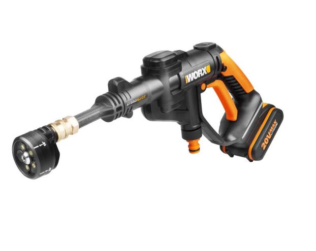 WORX (WORX) 20V cao áp từ xe máy làm sạch WG629E hút xách tay, súng phun nước cao áp rửa xe.