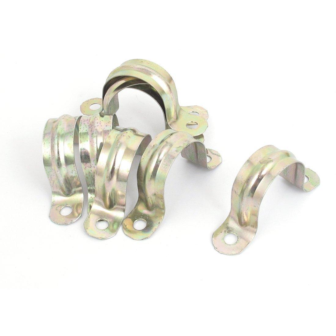 Uxcell 30 mm a15120400ux0235 vòm cao hai lỗ hình chữ U kẹp kẹp ống đồng sắc PCS 8.
