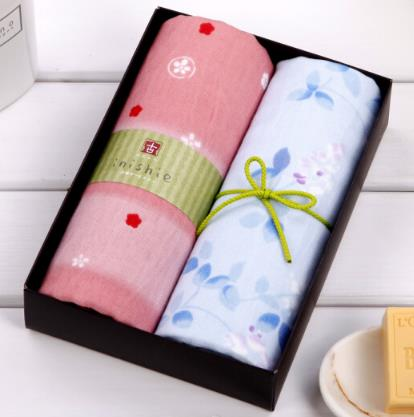 UCHINO Nhật Bản (UCHINO) khăn và gió cổ Series 2 đường mang khăn gạc khăn phúc lợi công ty bột xanh