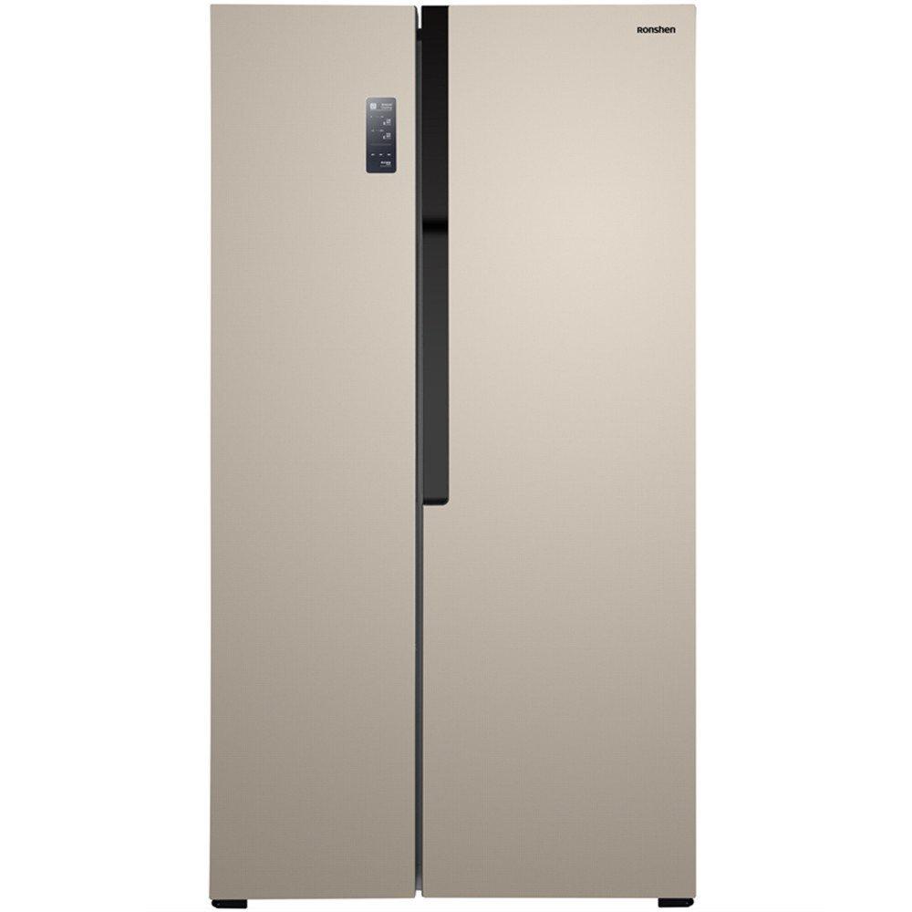 Ronshen 535 lít phải mở cửa tủ lạnh dẫn BCD-535WSS1HP titan vàng hiển thị kỹ thuật số rỗng