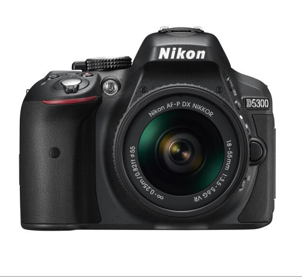 Nikon máy ảnh Nikon (Nikon) D5300 (AF-P DX 18-55mm f/3.5-5.6G VR) màu đen.