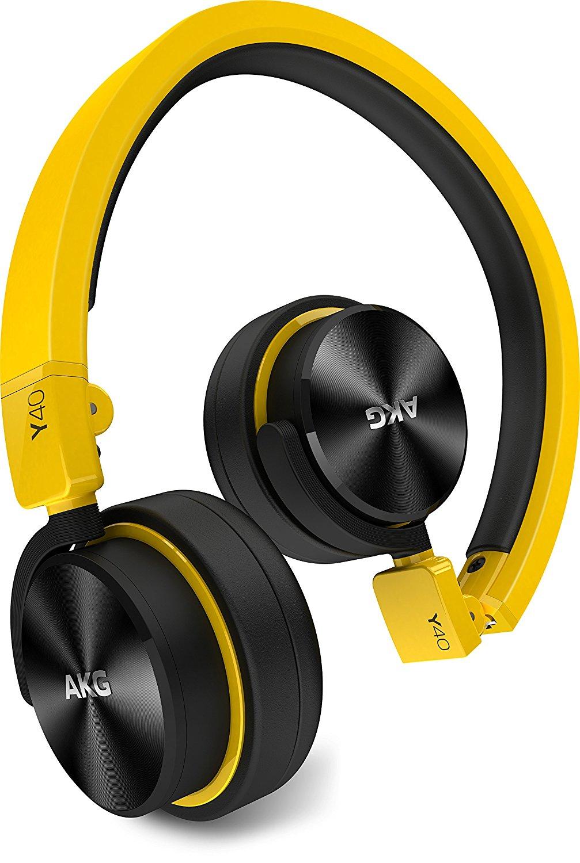 AKG Y40 che kín tai kiểu loại đầu đeo tai nghe màu vàng Y40YEL Portable