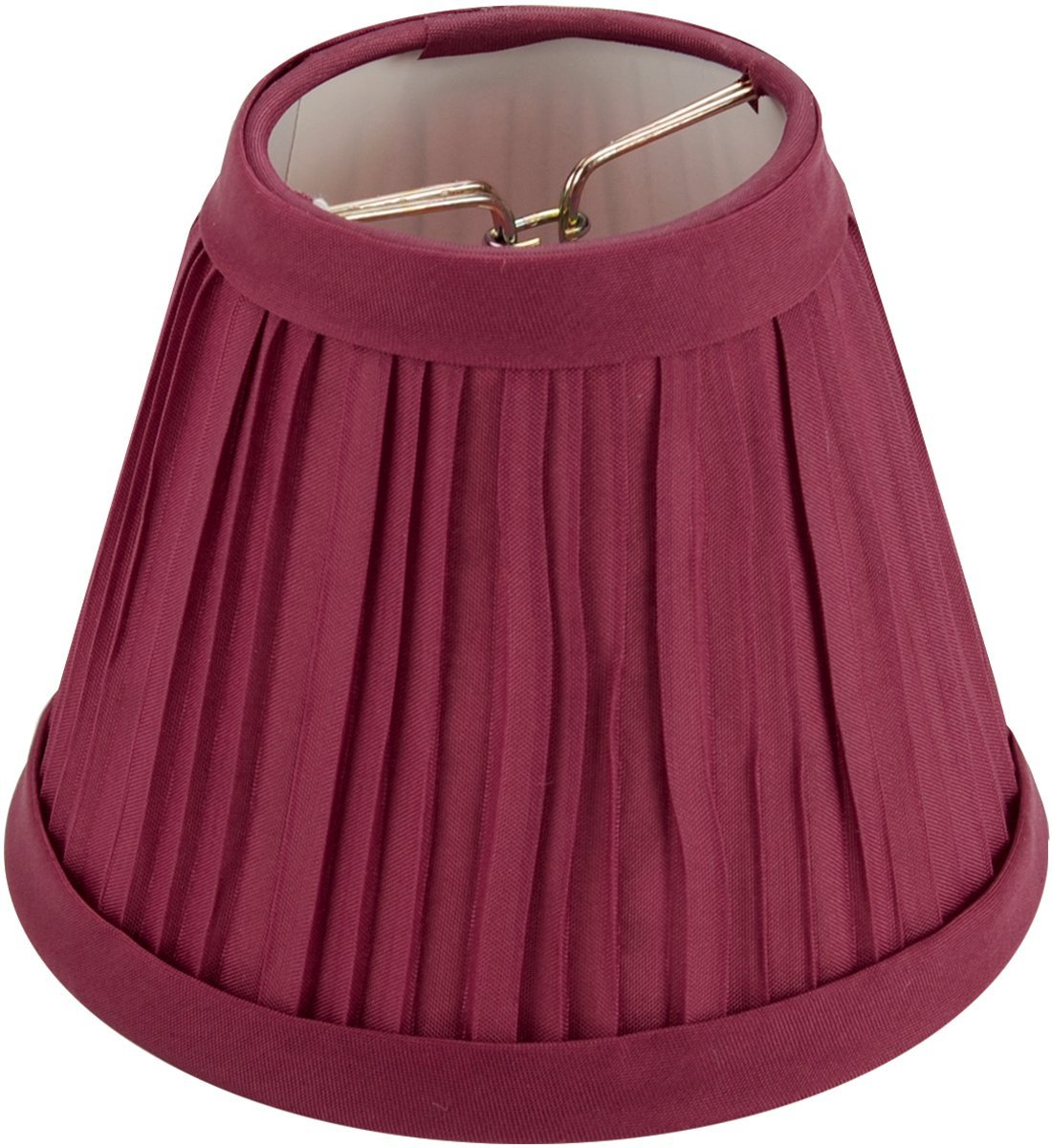 Darice - Pleated Cloth Covered Lamp Shade - Burgundy 2-1/2