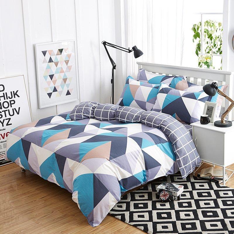 YOTA thỏ twill tem bốn mảnh AB Edition thiết kế giường áp dụng 1.5/1.8 mét (200*230cm)