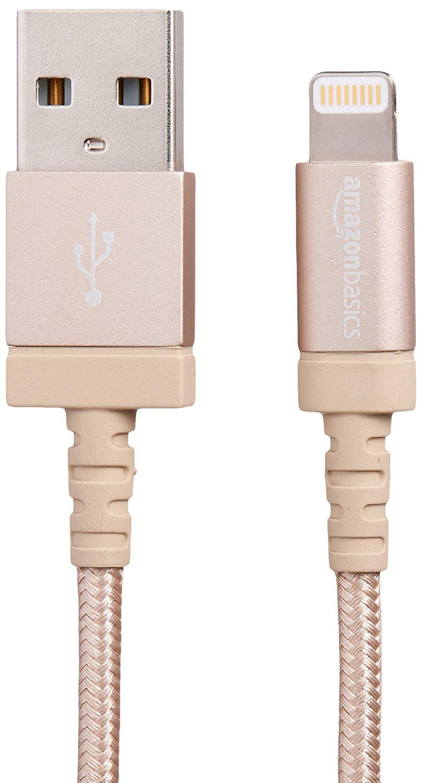 AmazonBasics lần Tư Apple MFi xác định khả năng tương thích với loại nylon Đan Lightning cáp USB một