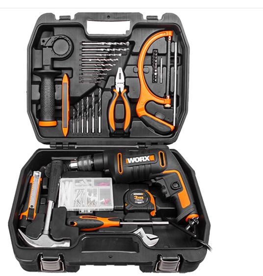 WORX (WORX) nhà máy khoan Toolbox WX317.3 sốc khoan khoan khoan tay súng Shock điện Bộ công cụ kim l