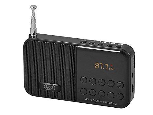 Trevi Dr 740 SD Portable của radio kỹ thuật số cho tập tin MP3 và Micro SD – black-p