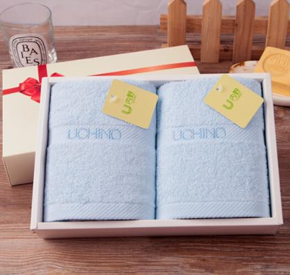 UCHINO Nhật Bản (UCHINO) khăn thêu từ hai mảnh khăn tắm, khăn khăn xanh công ty Phúc Lợi B