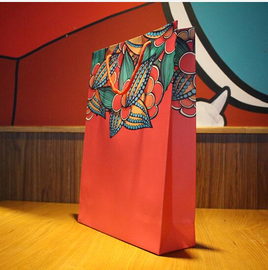 Túi áo Hồng Hưng túi quà tay trong túi quần áo túi. Túi quà túi đồ lễ để tùy chỉnh floribundum giấc