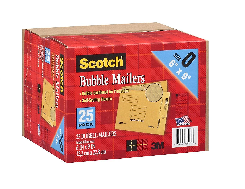 Scotch 3 m bong bóng cỡ 0 (40.64 thư cm x 50.80 cm) – 25 CT