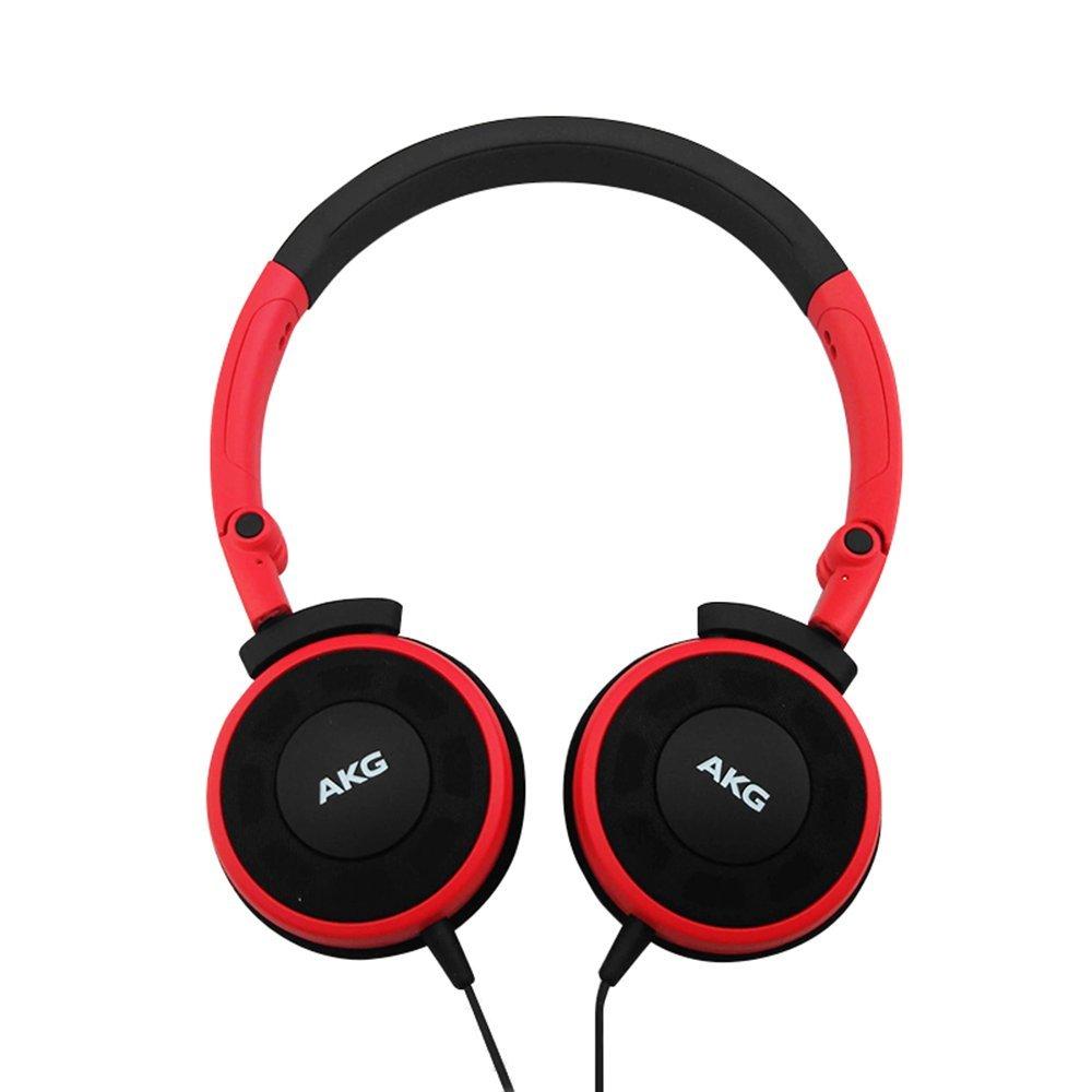 AKG Y30 đầu đeo tai nghe stereo, điện thoại, điện thoại di động tai nghe màu đỏ.