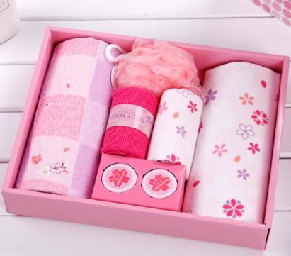 UCHINO Nhật Bản (UCHINO) khăn Sakura bảy mảnh khăn gạc công ty Hồng Phúc lợi 34.5*28*6cm P