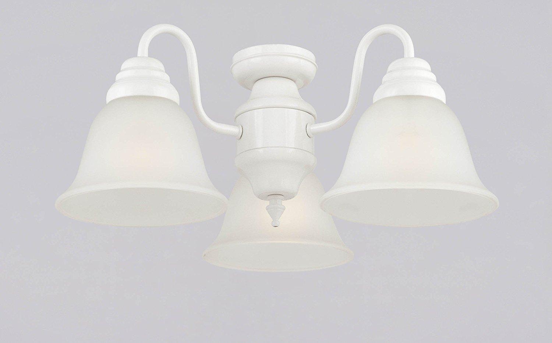 Westinghouse thiết kế và máy gặt đập liên hợp 3 đèn Suite trần quạt, màu trắng.