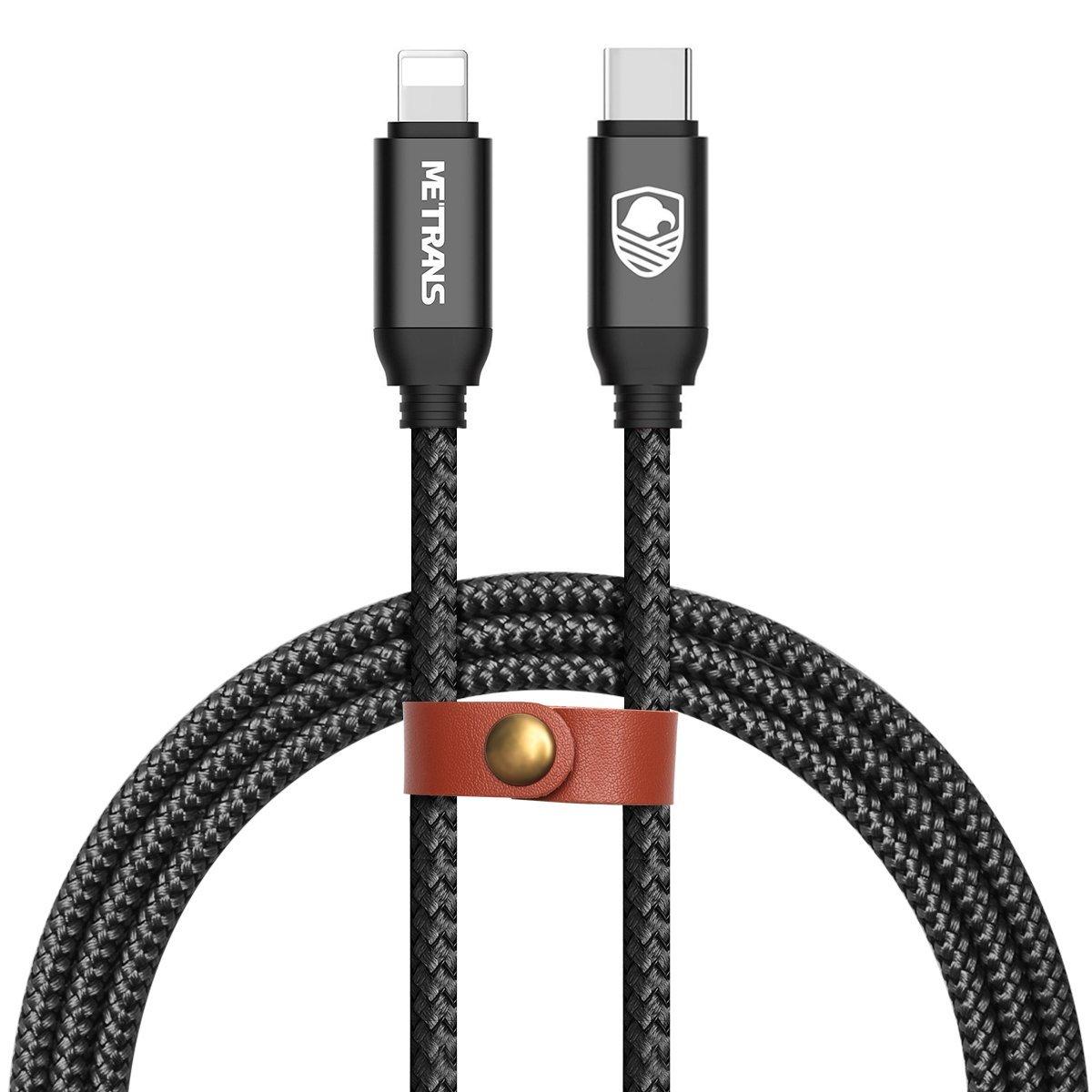 Dòng dữ liệu Sấm sét dữ liệu dây USB C METRANS 0.9 mét 2 loại sét này chứa dữ liệu iPhone iPad C dây