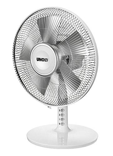 Unold 86815 40 W, màu trắng bạc, quạt điện – quạt (bạc, da trắng, 40 watt, 220 - 240 volt, 50 hertz,