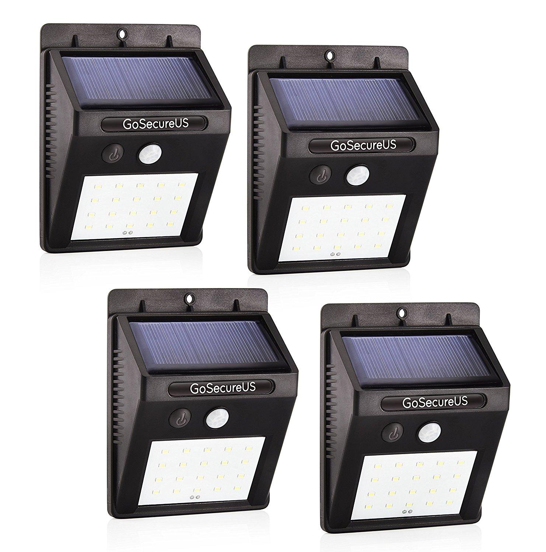 Gosecureus cảm biến chuyển động năng lượng Mặt Trời dẫn đèn an toàn hiệu quả chi phí bảo vệ môi trườ