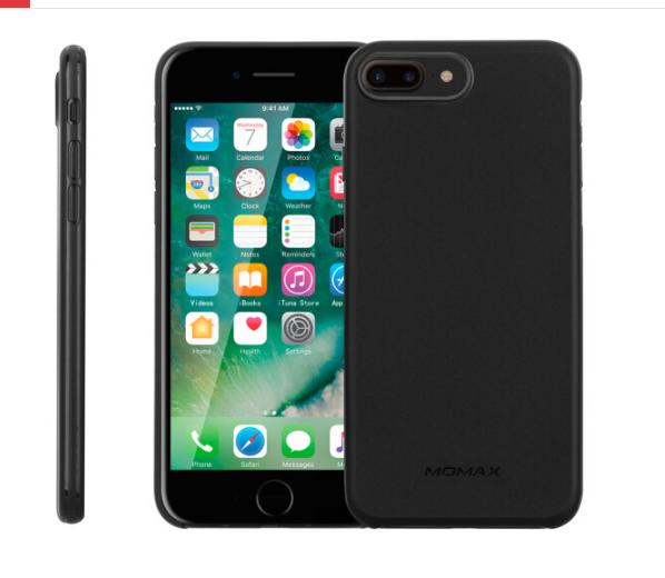MOMAX (MOMAX) iPhone7/8plus vỏ điện thoại di động Apple 7/8plus vỏ bảo vệ bộ PP vải bảo vệ vỏ đen 5.