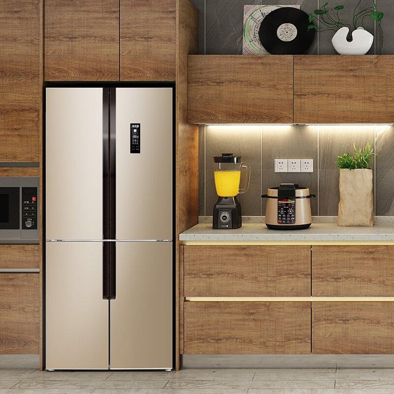 MeiLing BCD-418WPCX bốn cửa tủ lạnh gia dụng câu đối hai bên cánh cửa mở ra thay đổi tần số không có