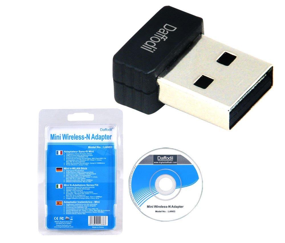 Daffodil Anh Daffodil LAN03 card mạng không dây USB siêu nhỏ thương hiệu WiFi receiver 150Mbps tốc đ