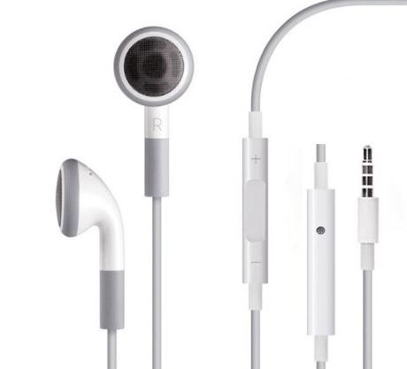 tai nghe nghe lọt tai tai nghe có thể áp dụng cho loại táo Apple 4S/5S/6/7/ipad2/3/air trắng.