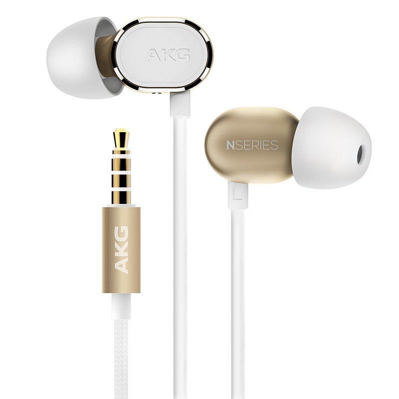 AKG N20 nghe lọt tai tai nghe stereo nhạc tai nghe điện thoại kiểu tai nghe màu vàng.