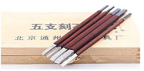 UTAVO Với cùng con dao nhà bếp chim gõ kiến 5 đội dao ( 5 chi giả) khắc đá dao chim gõ kiến bài khắc