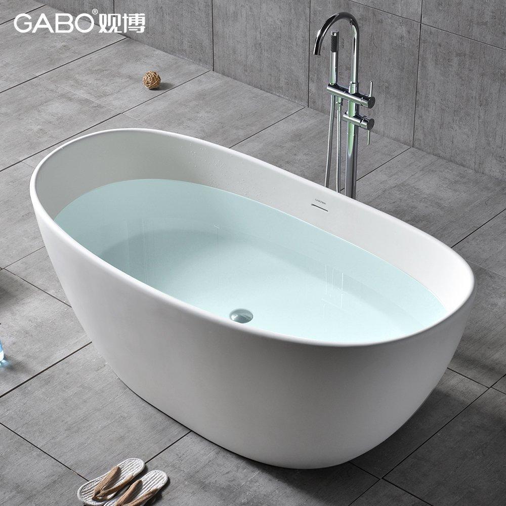 GABO view Bo 1.63 mét. Sinh vật ngoài hành tinh đá nhân tạo trong bồn tắm kiểu độc lập nhỏ người lớn