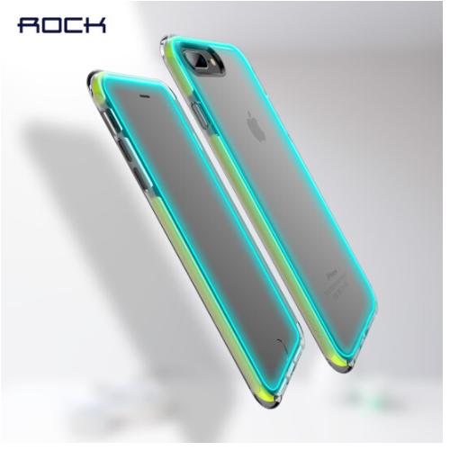 ROCK Locke (ROCK) iphone7/8 silica gel điện thoại vỏ trong suốt bộ Phòng ngã đầy vỏ trơn nhỉ mềm áp
