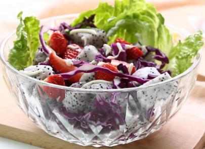 CORATED Chén bát salad bowl không chì thủy tinh trái cây tráng miệng chén bát đĩa trái cây rau trộn