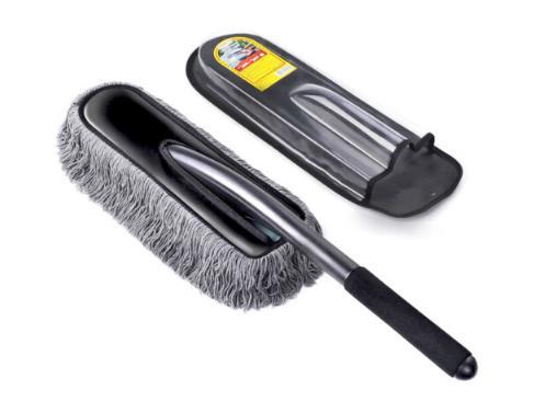 Carsetcity Xã Carsetcity thẻ trang trí xe bông sáp chổi lông gà ô tô hút bụi chổi lông gà chổi lau C