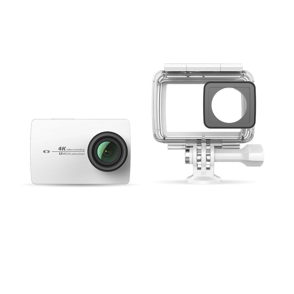 YI 4 K WH WP hoạt động thể dục thể thao và 4 K / 30fps camera WIFI trắng