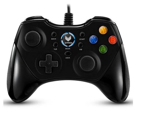 (Rapoo) V600 cấp Gaming rung động trò chơi cầm đen.