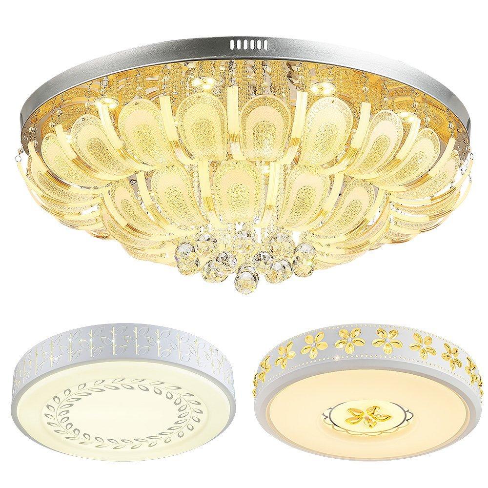 NVC Peacock, phòng khách, phòng ngủ, phòng khách, ánh sáng đèn 3 bộ quần áo đèn dẫn điều khiển từ xa